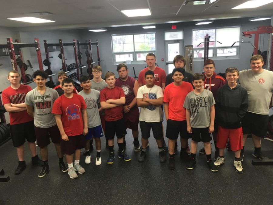 Football Weight lifters