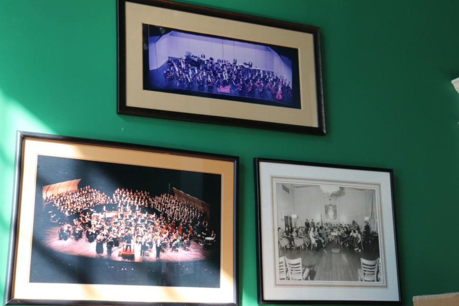 Pictures of previous years of symphonies spread along the walls.