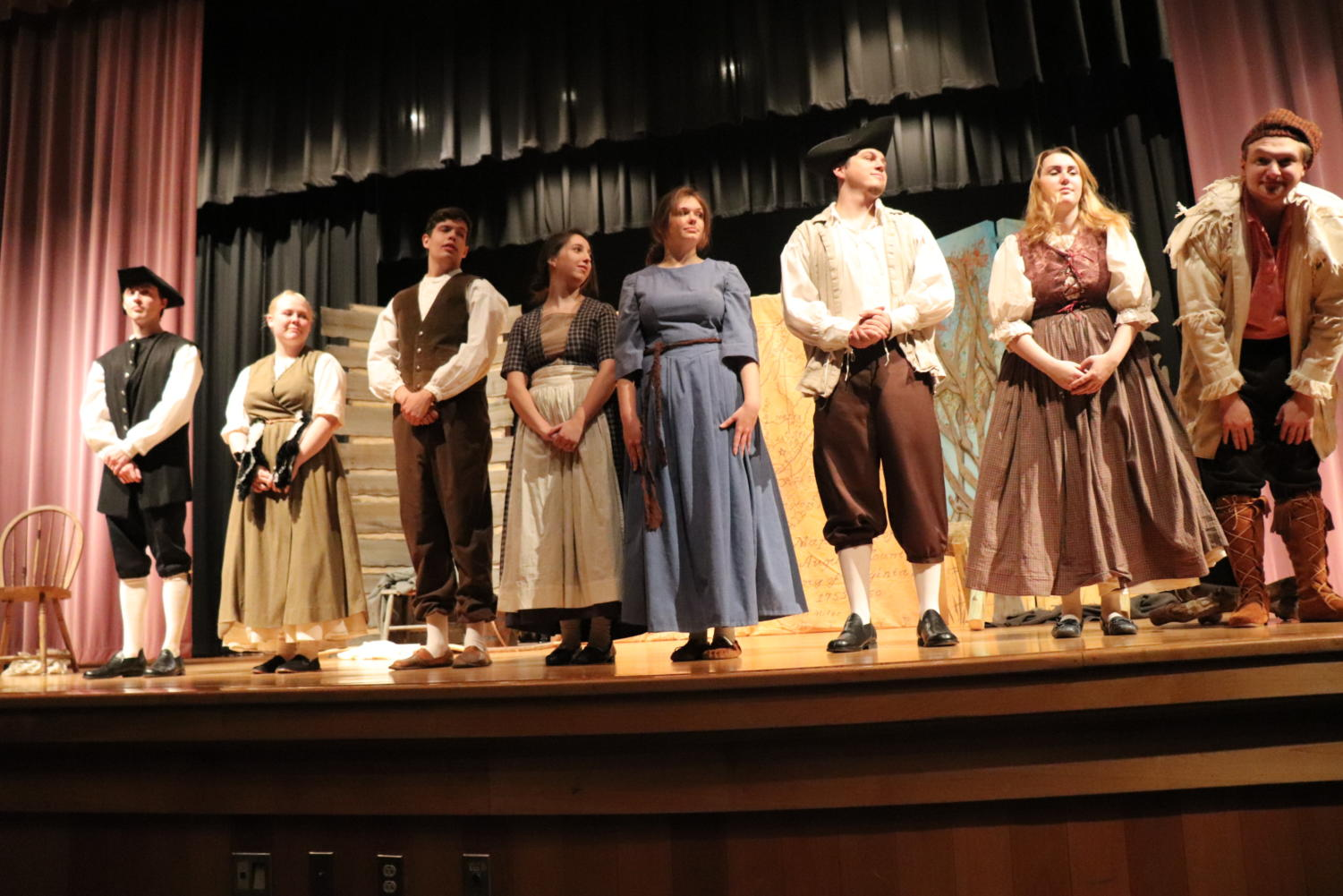 The cast of the play.