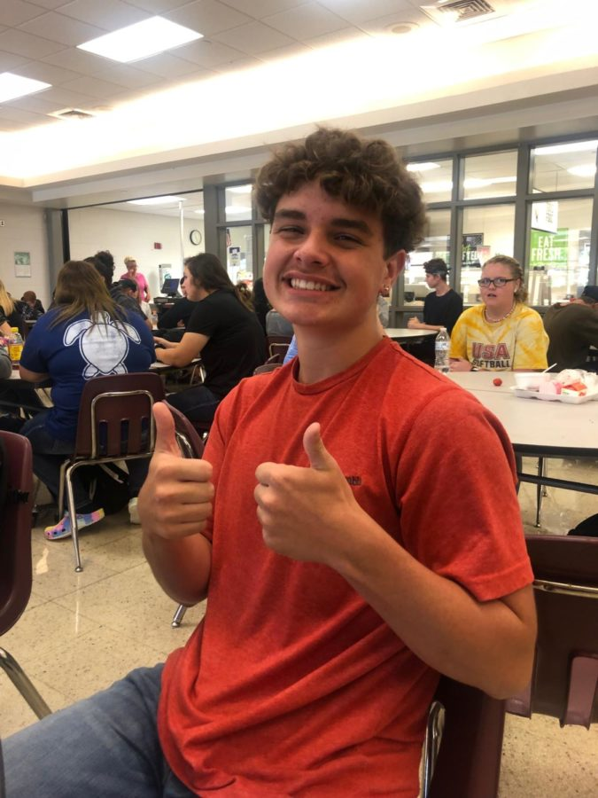 Thumbs up for the new student Gavin!!