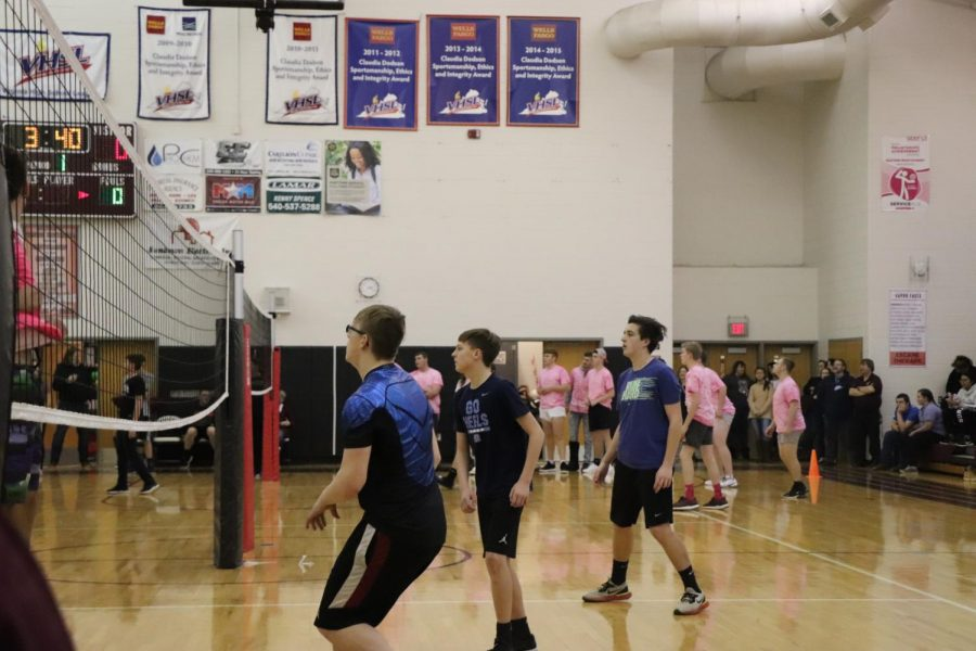 One of EMHS' newest events: Powder puff guys volleyball!